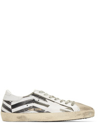 Print Leather Low Top Sneakers