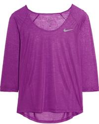 Nike Cool Breeze Dri Fit Slub Jersey Top Purple