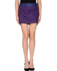 Purple Button Skirt