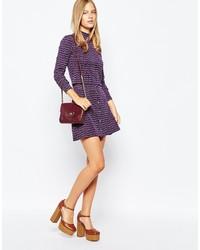 First I First I 70s Stripe Button Through A Line Skirt