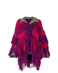 Sacai Fringed Embroidered Cardigan