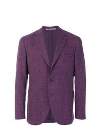 Purple Check Blazer
