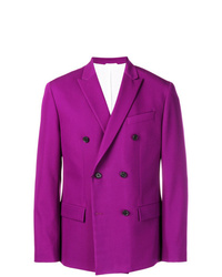 Purple Double Breasted Blazer