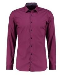 Eterna Super Slim Fit Formal Shirt Bordaux