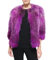Purple Fur Jacket