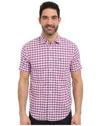 Purple Gingham Short Sleeve Shirt