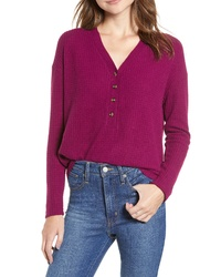 Purple Henley Shirt