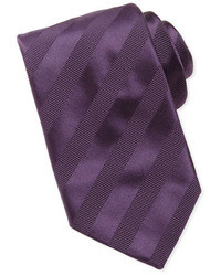 Purple Horizontal Striped Tie