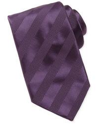 Purple Horizontal Striped Tie