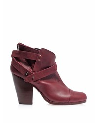 Rag & Bone Harrow Leather Suede Ankle Boots