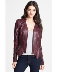 Hinge Leather Peplum Jacket