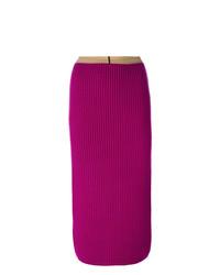 Calvin Klein 205W39nyc Ribbed Bodycon Mid Length Skirt