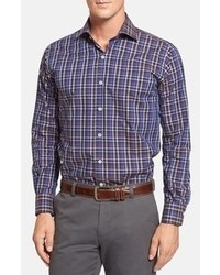Burgin regular fit plaid sport shirt medium 106581