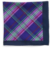 Logo plaid silk pocket square medium 8603