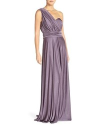 Jenny Yoo Demi Convertible Strapless Pleat Jersey Gown