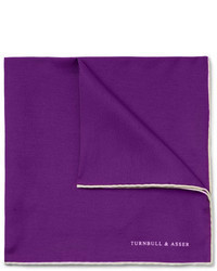 Turnbull & Asser Contrast Edge Silk Pocket Square