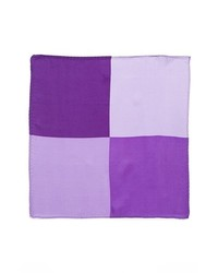 Original Penguin Madison Solid Silk Pocket Square Purple One Size