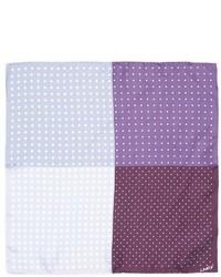 Lanvin Contrasting Polka Dot Print Silk Pocket Square