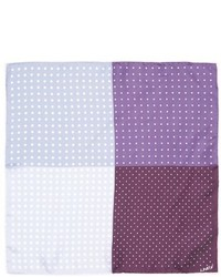 Contrasting polka dot print silk pocket square medium 464897