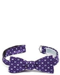 Purple Print Bow-tie