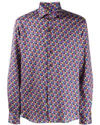 Etro Printed Satin Shirt
