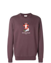 Purple Print Sweatshirt