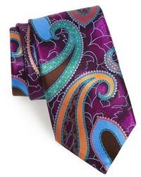 Purple Print Tie