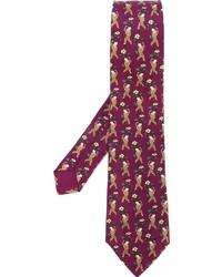 Herms Vintage Boy Print Tie