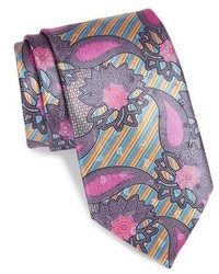 Ermenegildo Zegna Quindici Print Silk Tie