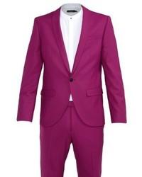 Noose & Monkey Ellroy Skinny Fit Suit Purple