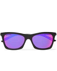 Balenciaga D Frame Acetate And Silver Tone Mirrored Sunglasses
