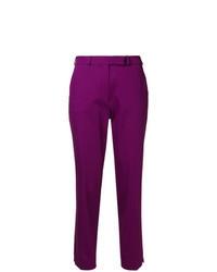 Purple Tapered Pants