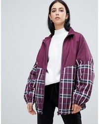 ASOS DESIGN Mixed Check Jacket