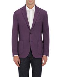 Purple Wool Blazer