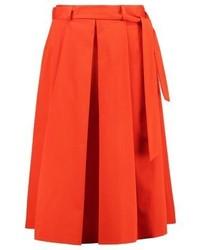 Moschino Pleated Skirt Red