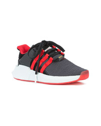 Red and Black Athletic Shoes