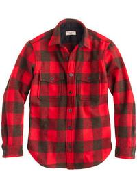 Buffalo check cpo shirt jacket medium 157931