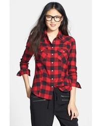 Sandra Ingrish Check Cotton Flannel Shirt