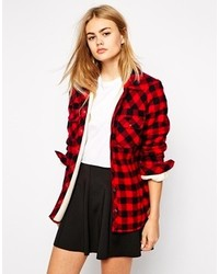 Only Checked Shirt With Fleece Lining