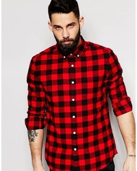 Brand buffalo plaid shirt in regular fit medium 453764
