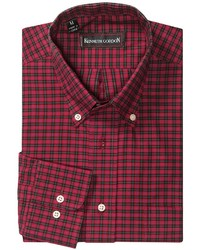 Red and Black Check Long Sleeve Shirt