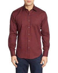 Classic fit gingham sport shirt medium 383943