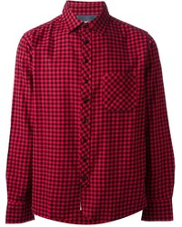 Rag bone checked shirt medium 166375