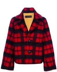 2 plaid checked jacket medium 110667