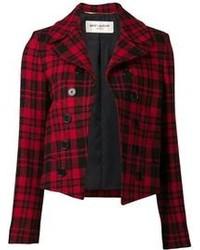 Saint Laurent Plaid Jacket