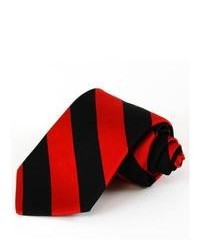 Red and Black Vertical Striped Tie