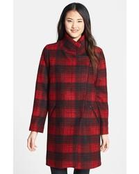 Trina Turk Plaid Wedge Coat