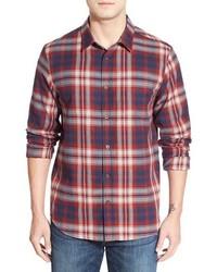 Jack oneill kingsbay regular fit plaid flannel shirt medium 403490