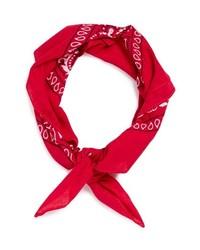 Topman Paisley Print Bandana Red One Size