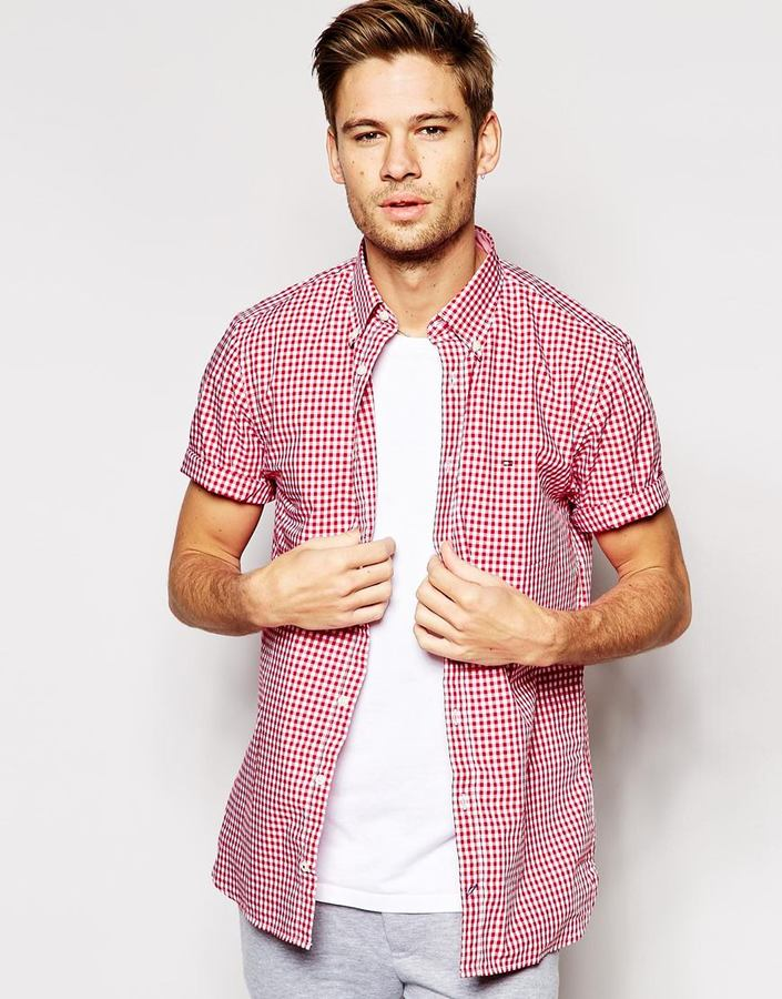 e7883b20 Tommy Hilfiger Shirt With Gingham Check Short Sleeves, £98 | Asos |  Lookastic UK